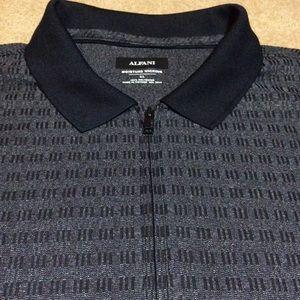Alfani Shirts - Alfani Men's 1/4 Zip Polo Shirt, XL